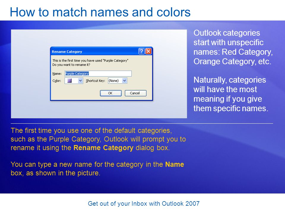 How to match names and colors