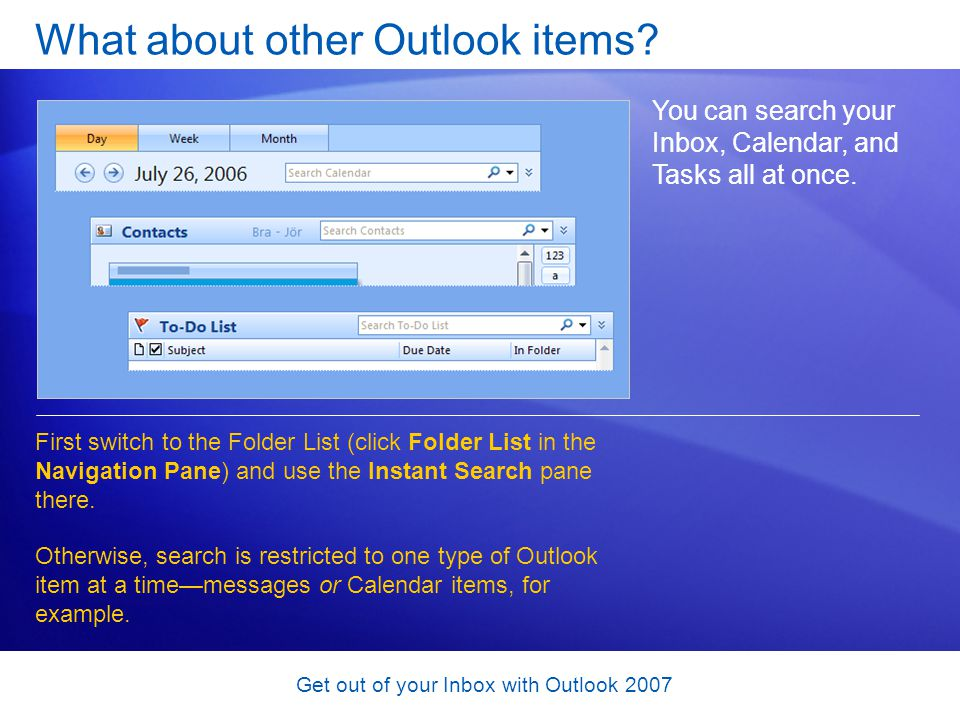 What about other Outlook items