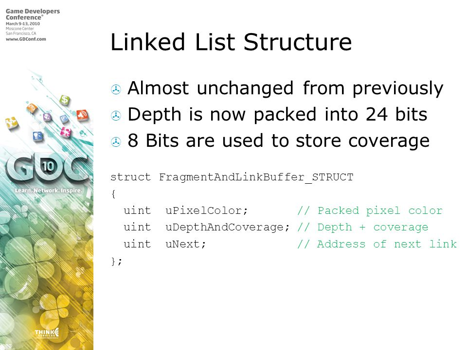 Linked List Structure Almost unchanged from previously
