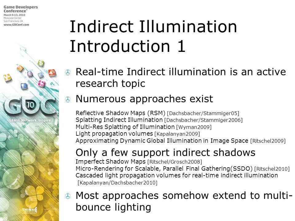 Indirect Illumination Introduction 1