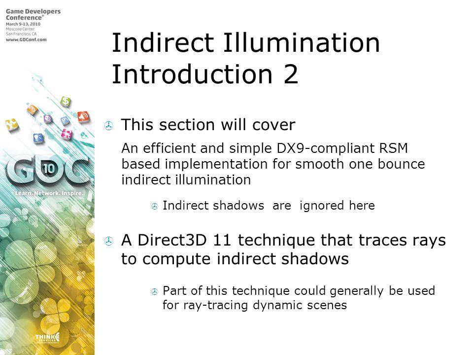 Indirect Illumination Introduction 2