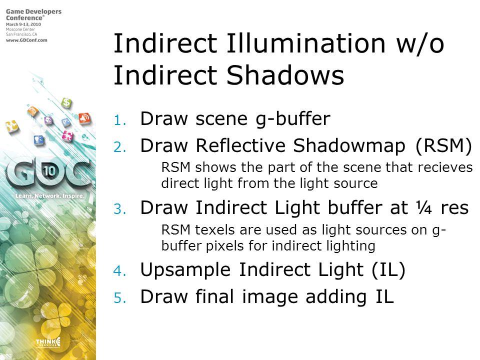 Indirect Illumination w/o Indirect Shadows