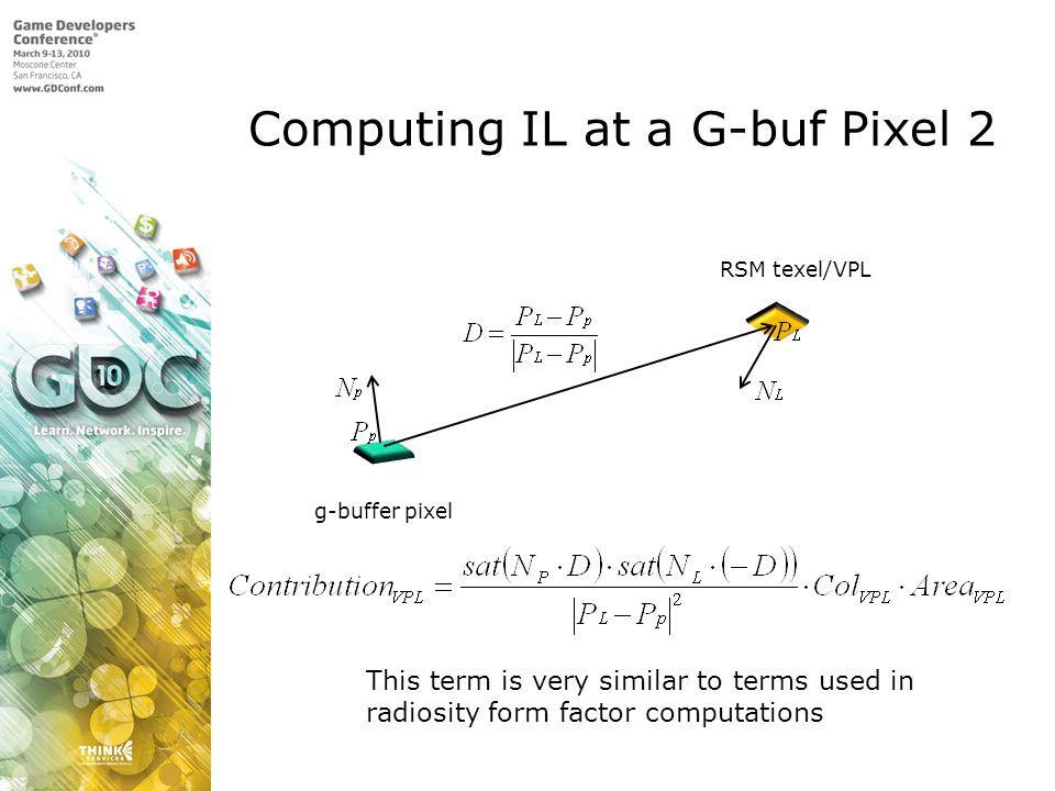 Computing IL at a G-buf Pixel 2