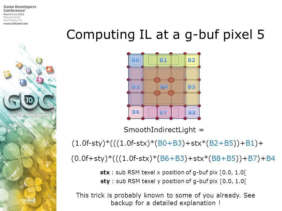 Computing IL at a g-buf pixel 5