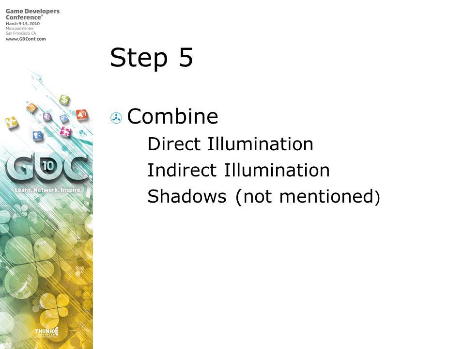 Step 5 Combine Direct Illumination Indirect Illumination