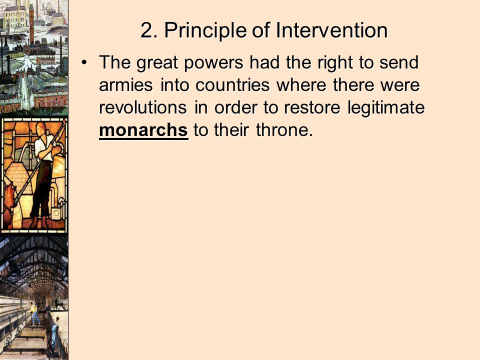 2. Principle of Intervention