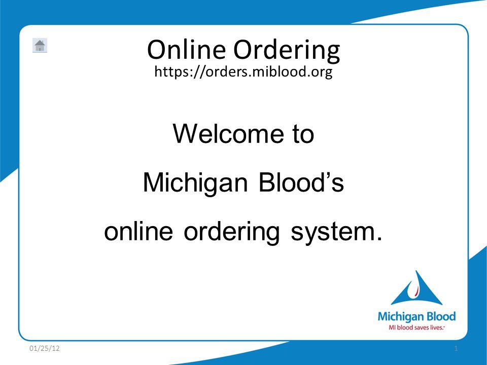 online ordering system.