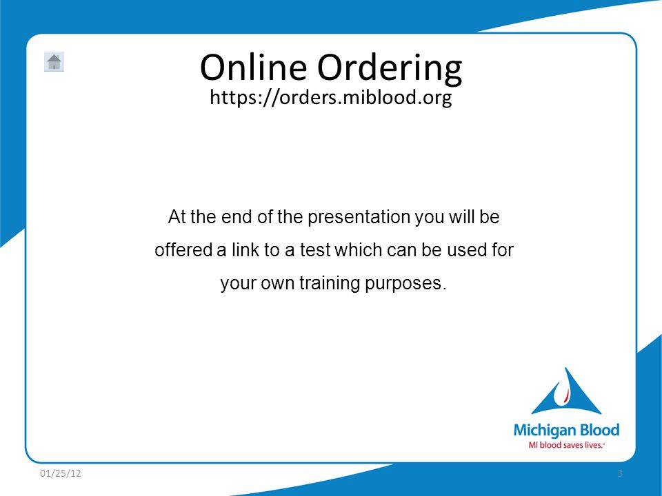 At the end of the presentation you will be offered a link to a test which can be used for your own training purposes.