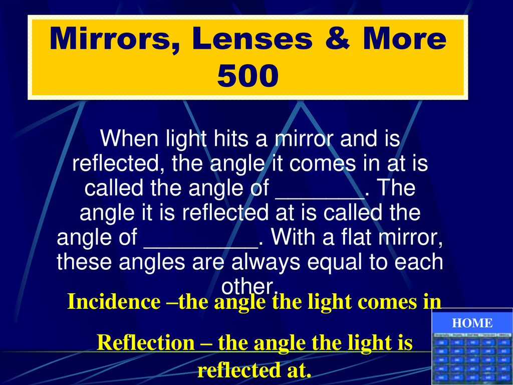 Mirrors, Lenses & More 500