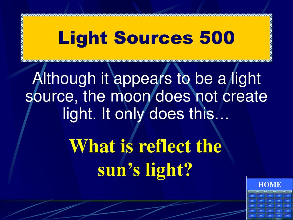 What is reflect the sun's light
