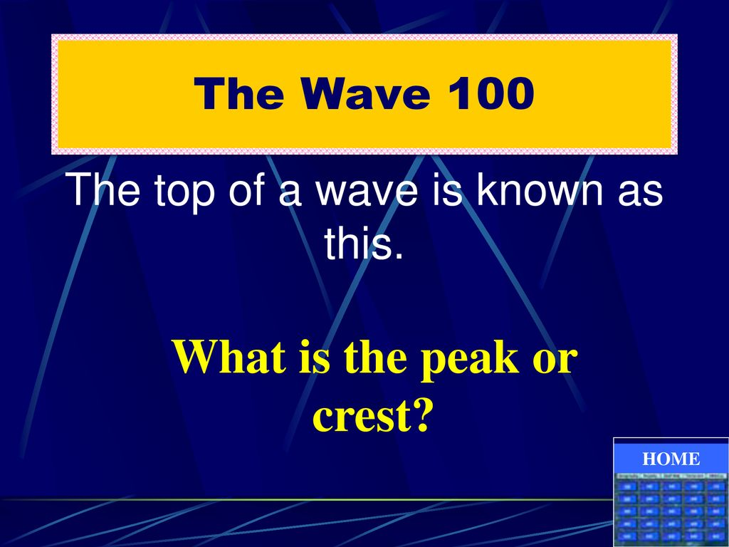 What is the peak or crest