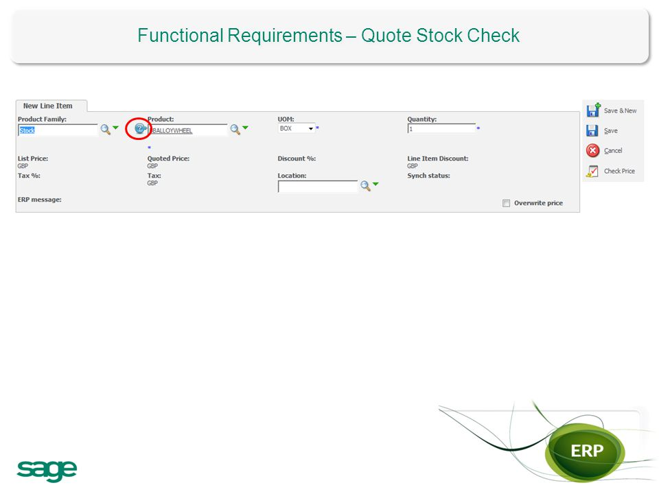 Functional Requirements – Quote Stock Check