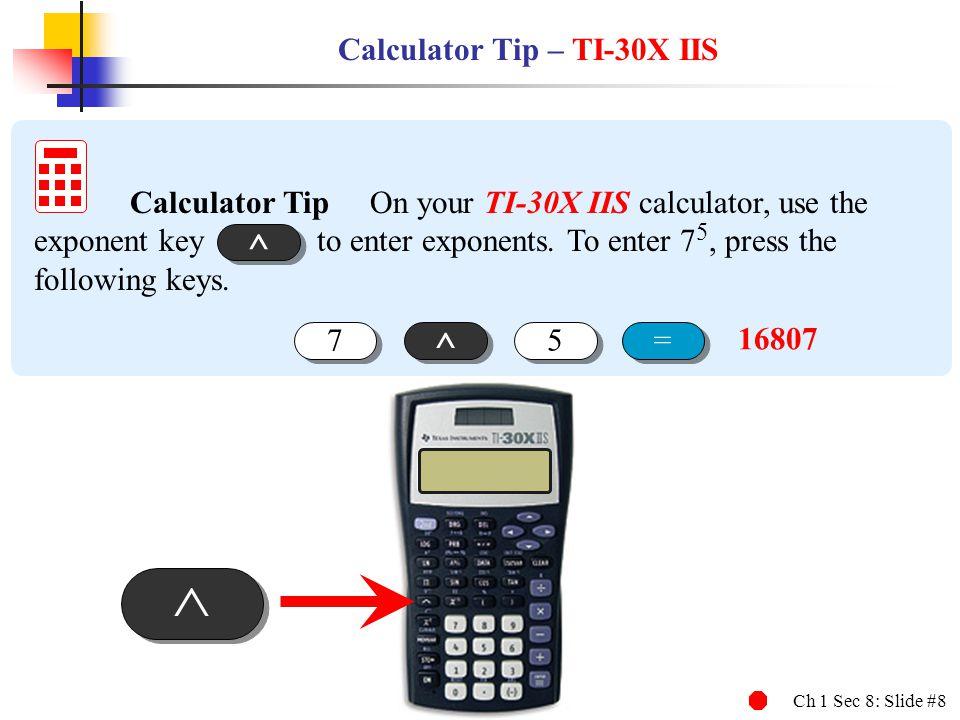 Calculator Tip – TI-30X IIS