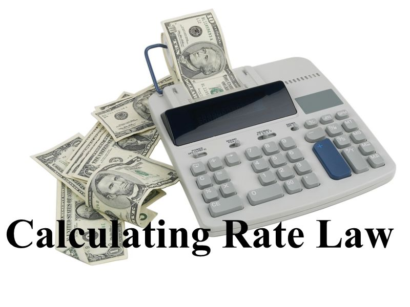 Calculating Rate Law