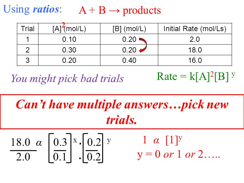 Can't have multiple answers…pick new trials.