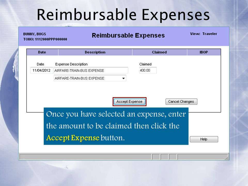Reimbursable Expenses