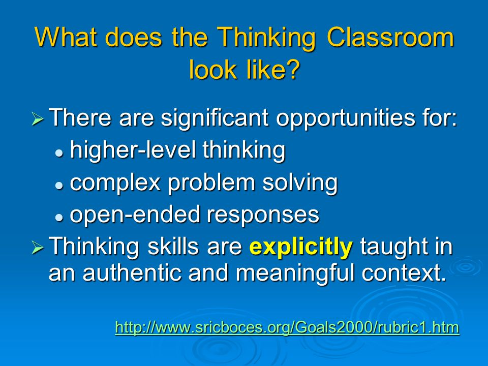 What does the Thinking Classroom look like