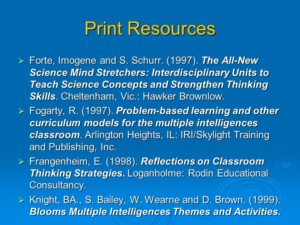 Print Resources