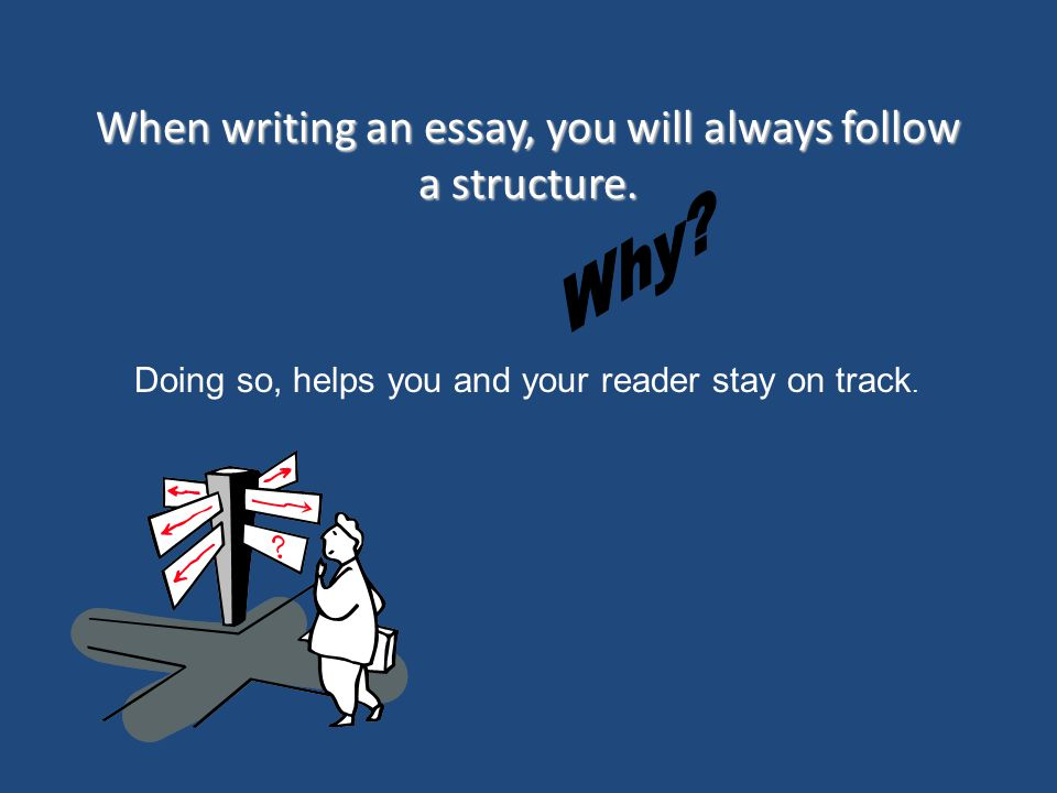 When writing an essay, you will always follow a structure.