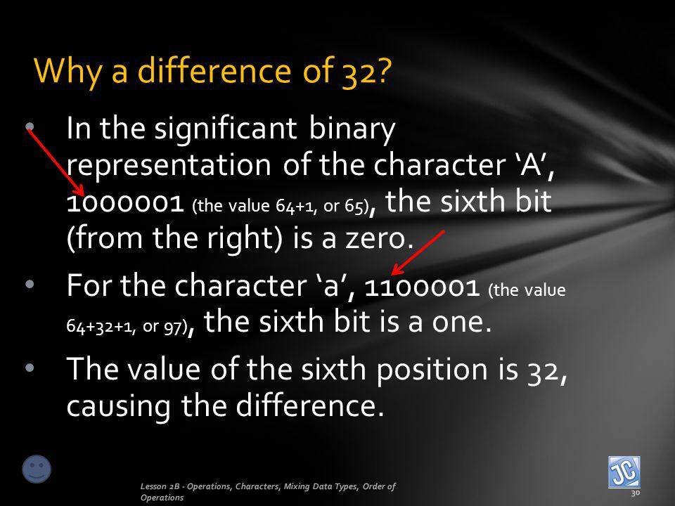 Why a difference of 32