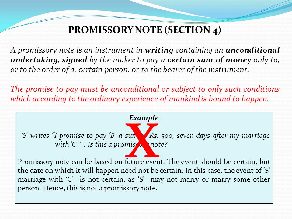 PROMISSORY NOTE (SECTION 4)