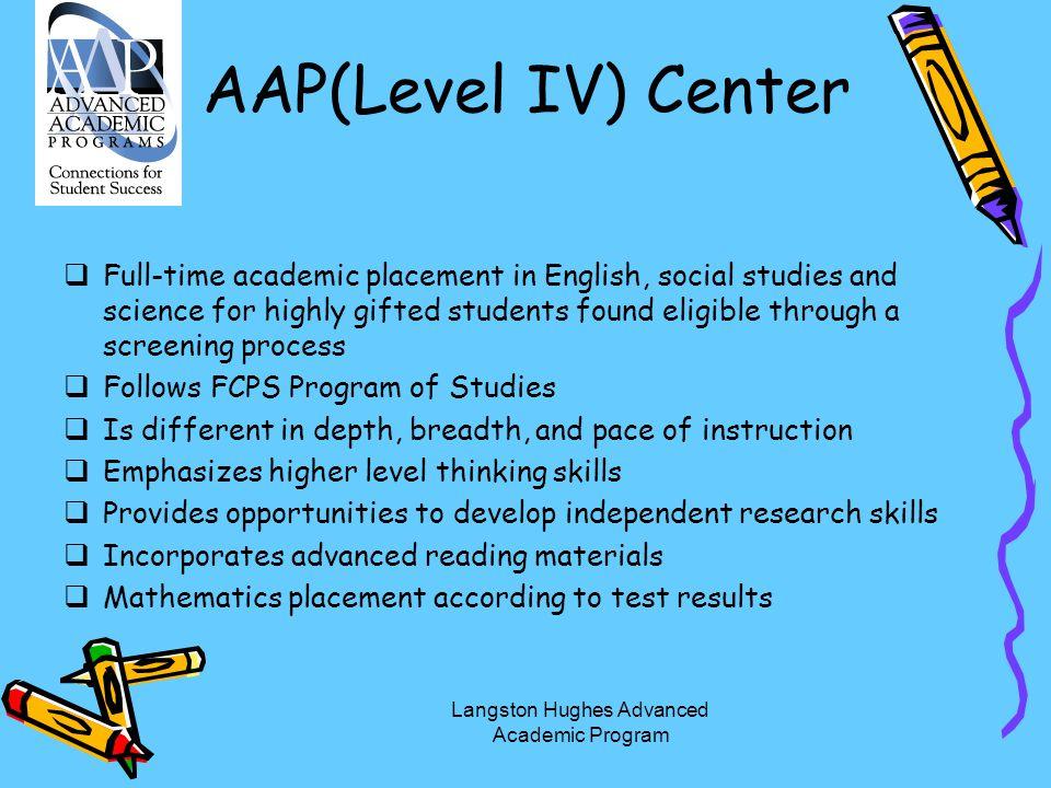 Langston Hughes Advanced Academic Program