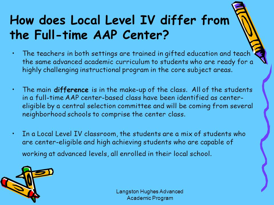 How does Local Level IV differ from the Full-time AAP Center
