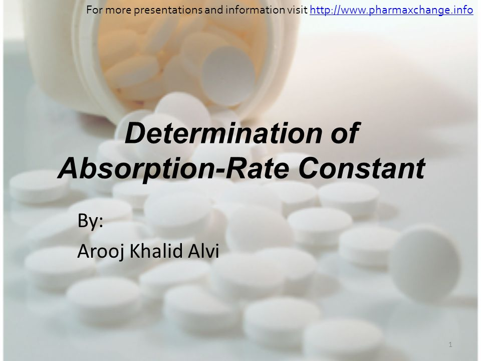 Determination of Absorption-Rate Constant