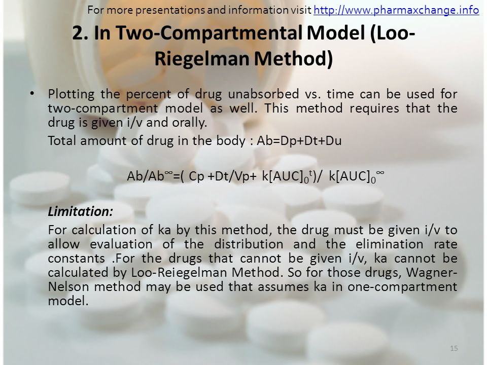 2. In Two-Compartmental Model (Loo-Riegelman Method)