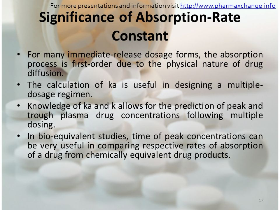 Significance of Absorption-Rate Constant