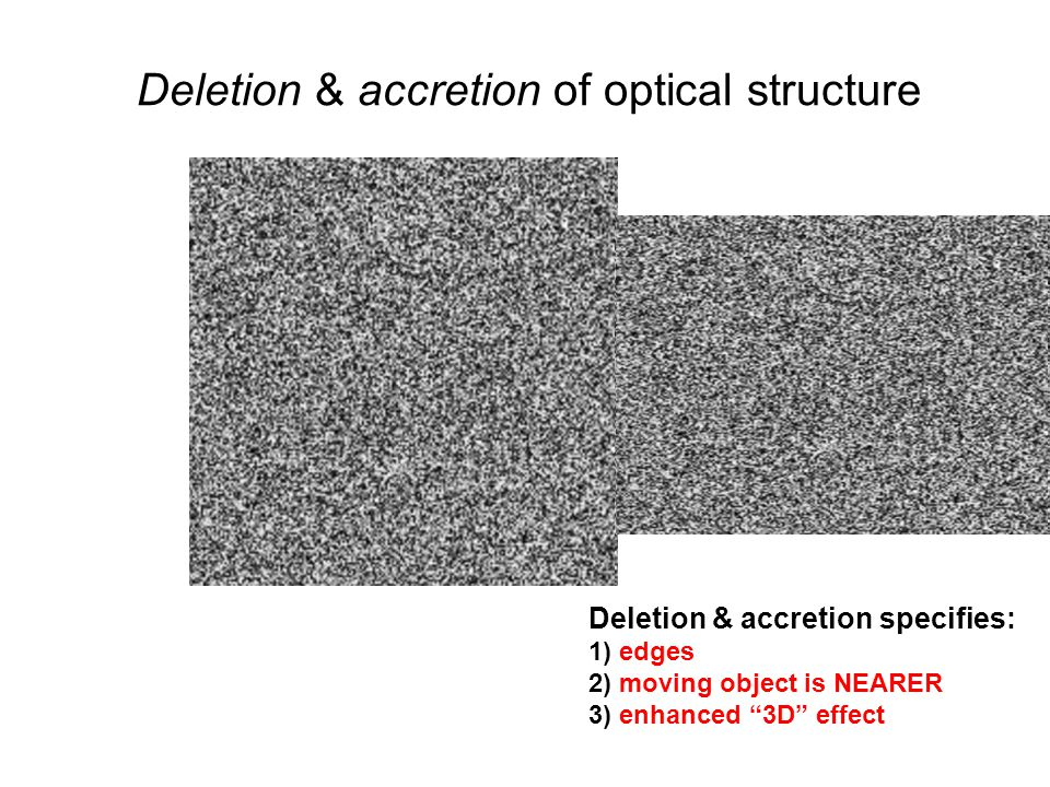 Deletion & accretion of optical structure