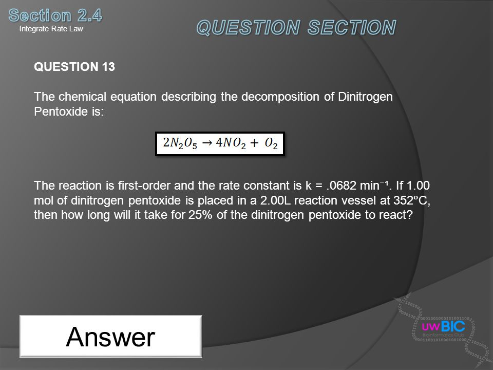 Answer QUESTION SECTION Section 2.4 QUESTION 13