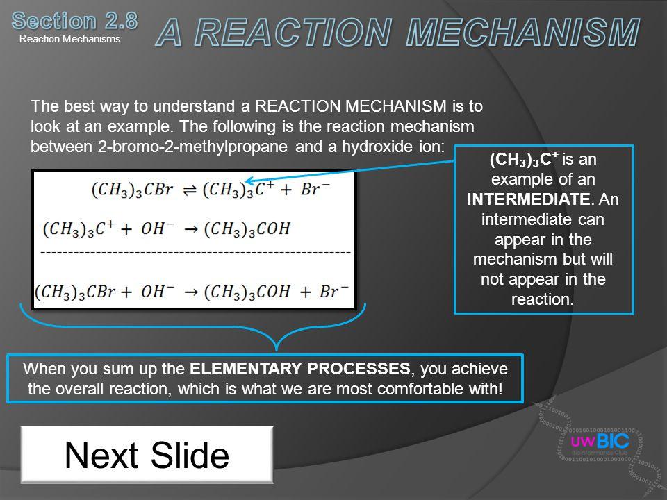 A REACTION MECHANISM Next Slide Section 2.8