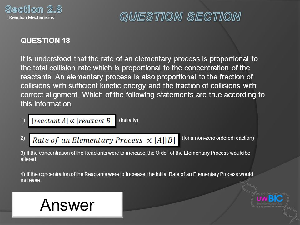Answer QUESTION SECTION Section 2.8 QUESTION 18