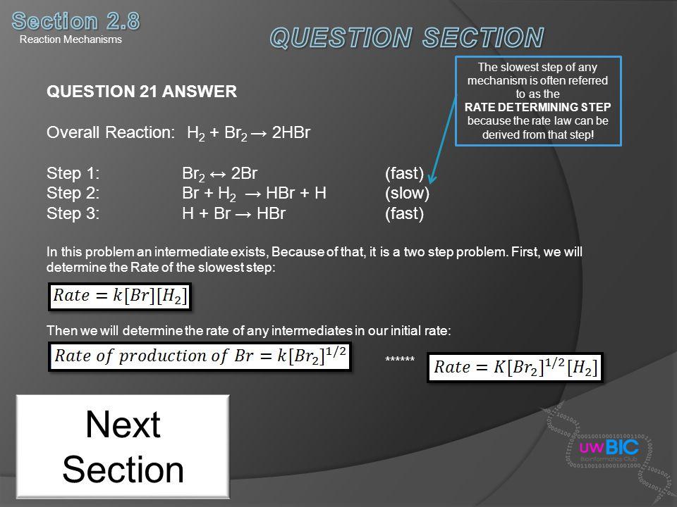 Next Section QUESTION SECTION Section 2.8 QUESTION 21 ANSWER