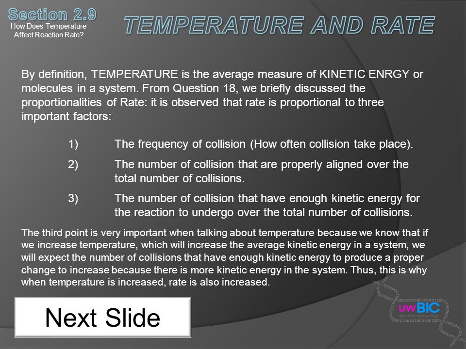 How Does Temperature Affect Reaction Rate