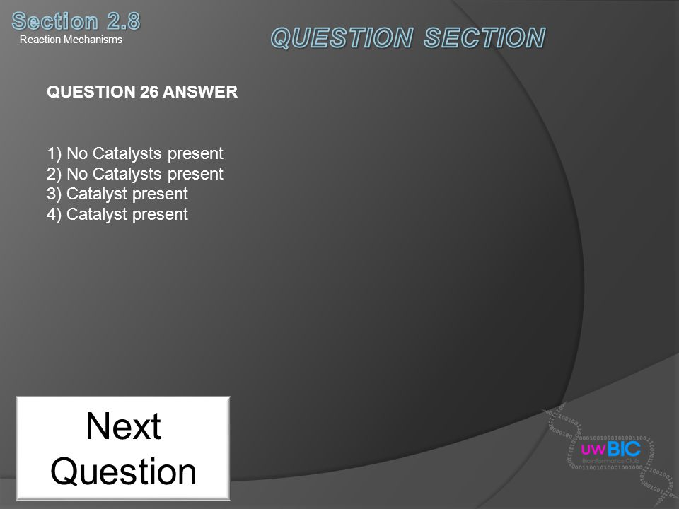 Next Question QUESTION SECTION Section 2.8 QUESTION 26 ANSWER