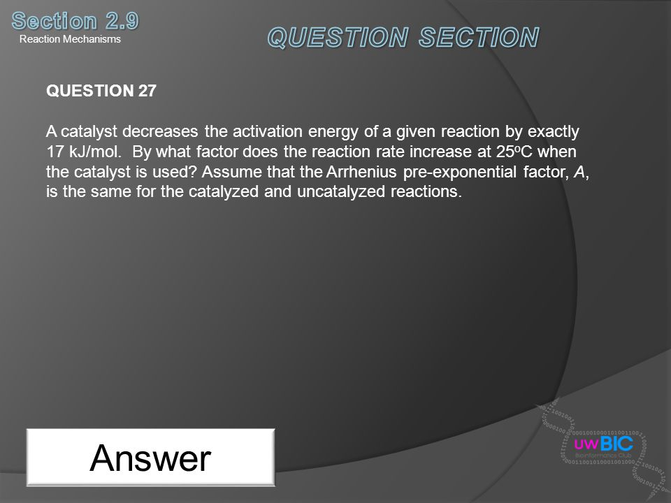 Answer QUESTION SECTION Section 2.9 QUESTION 27