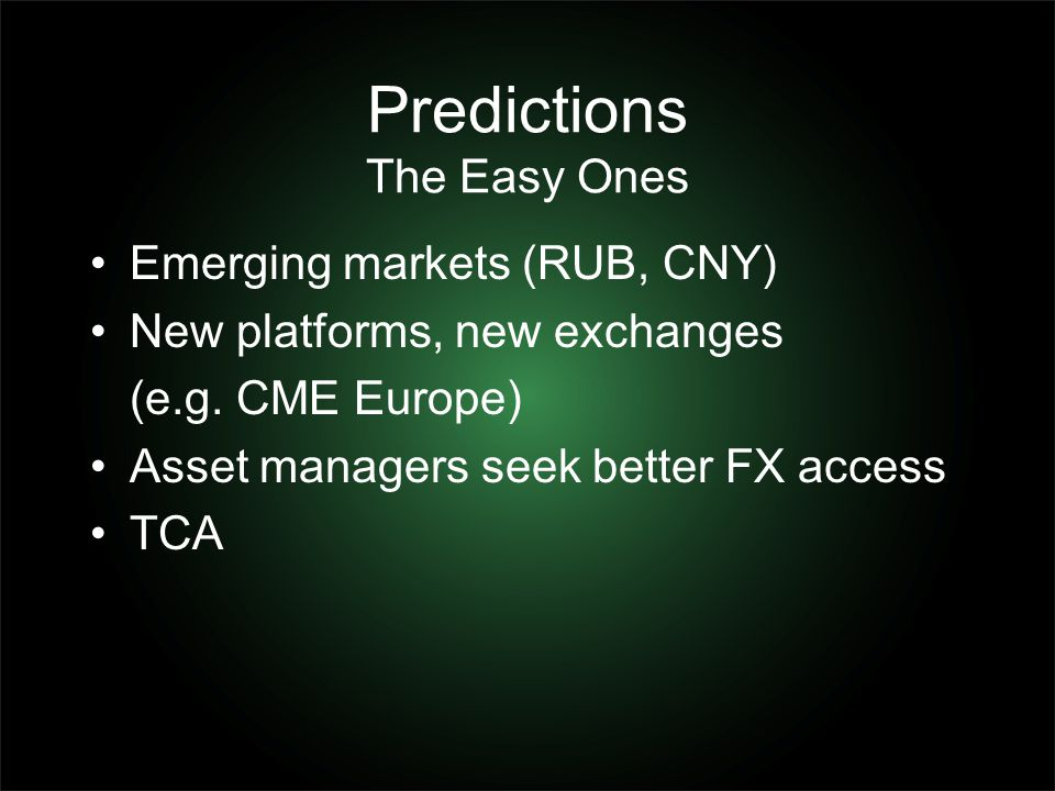 Predictions The Easy Ones