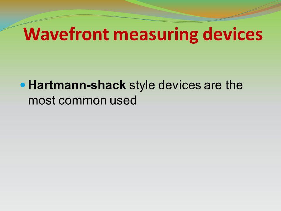 Wavefront measuring devices
