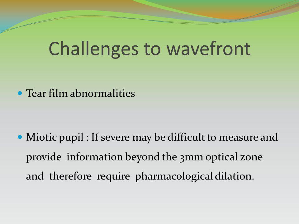 Challenges to wavefront