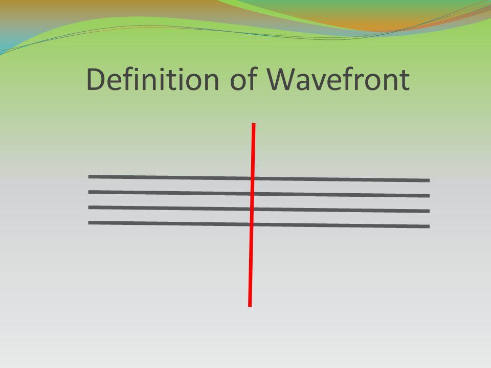 Definition of Wavefront