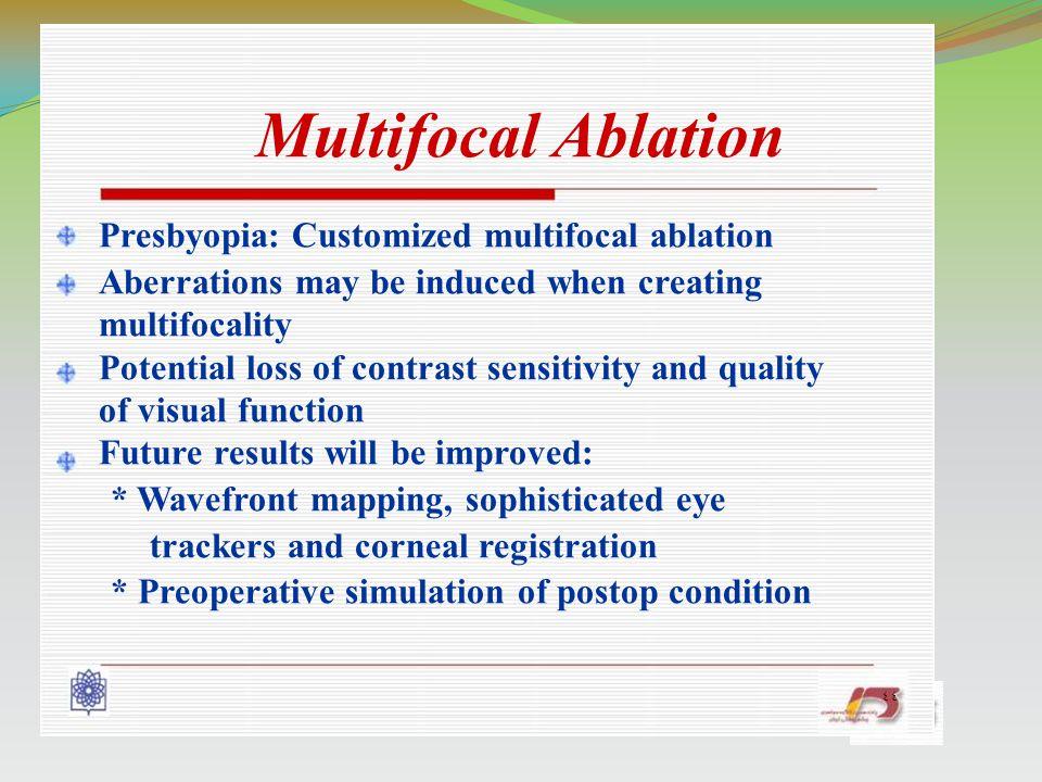 Presbyopia: Customized multifocal ablation