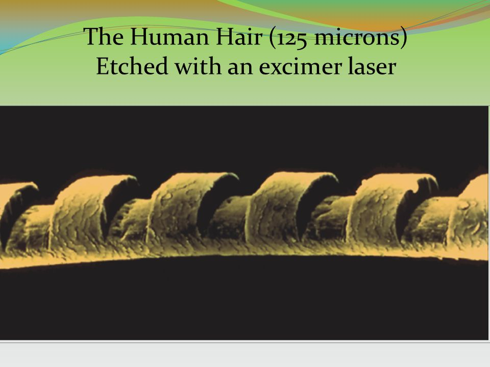 The Human Hair (125 microns) Etched with an excimer laser
