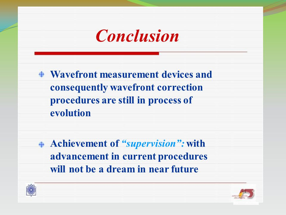 Wavefront measurement devices and consequently wavefront correction