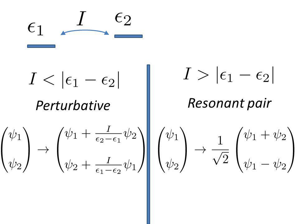 Resonant pair Perturbative