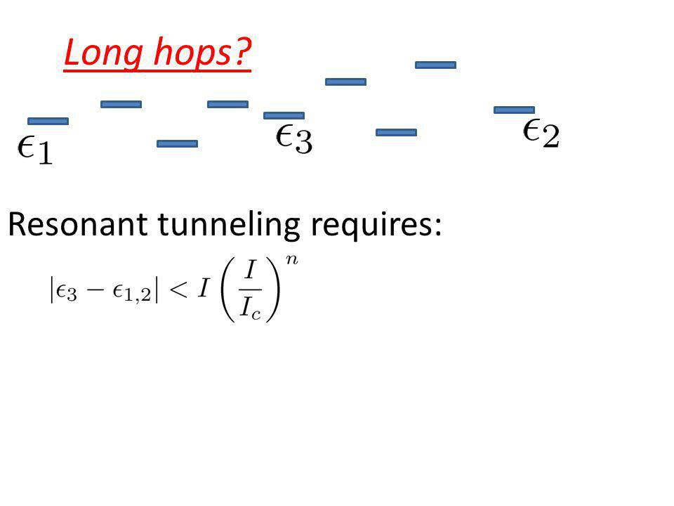 Long hops Resonant tunneling requires:
