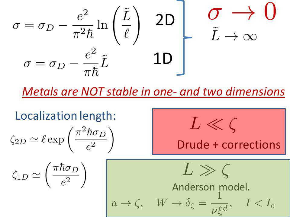 2D 1D Metals are NOT stable in one- and two dimensions