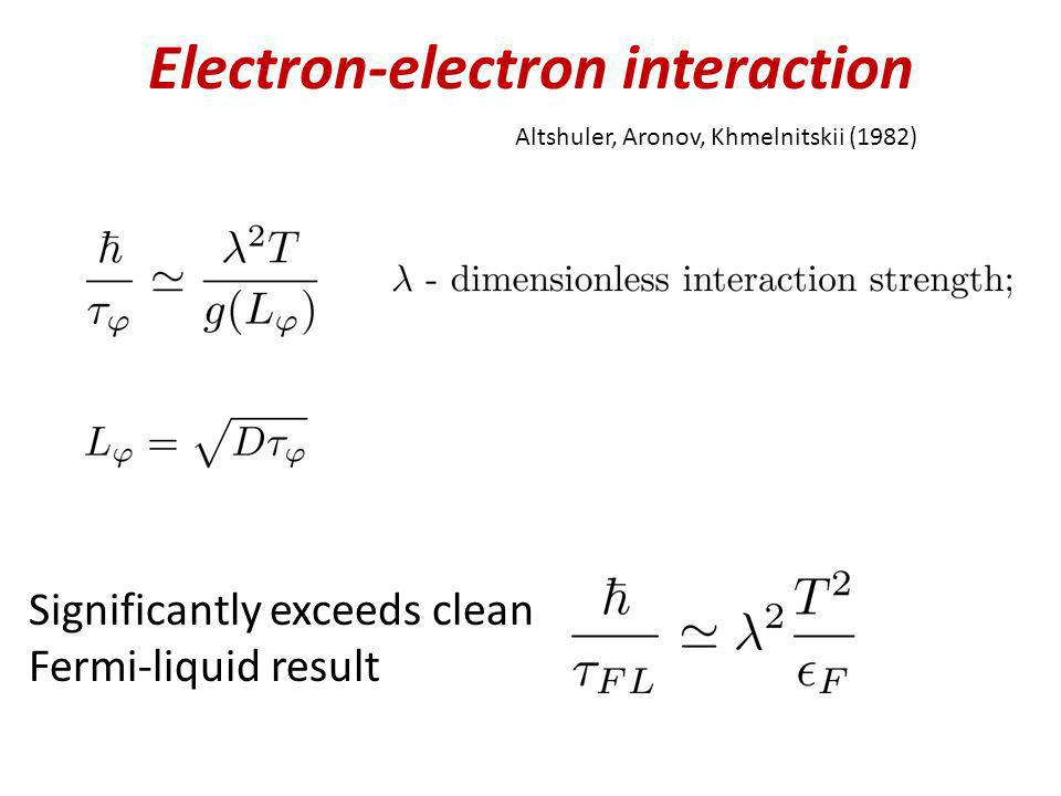 Electron-electron interaction