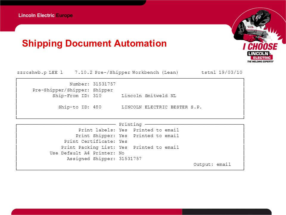 Shipping Document Automation